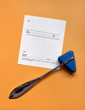 Reflex Hammer and Blank Script Royalty Free Stock Photo