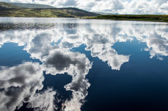 Reflex on a lake. Cloud reflex on a lake of Connemara, Region of ireland Royalty Free Stock Photography