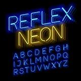Reflex Neon font Royalty Free Stock Photos