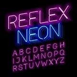 Reflex Neon font Stock Photos