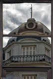 reflex of a palace in a window Stock Image