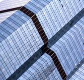 reflex of some gray palace in a window  bangkok thailand Royalty Free Stock Photography