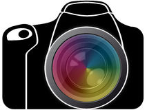 Reflex with  spectrum lens Stock Images