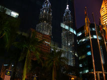 Reflex of Twin towers Petronas Stock Photos