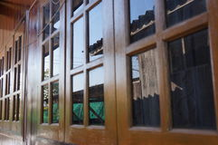 Reflex windows scene of the house Royalty Free Stock Photos