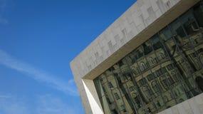 Reflexen av historia på museet av Liverpool arkivfoton