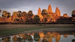 Reflexes of Angkor Wat stock photo
