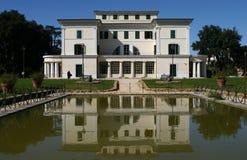 Reflexes of architecture. Rome - Villa Torlonia (Mussolini residence), reflections on the lake Stock Photo