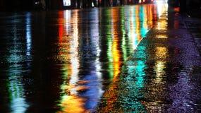 Reflexões coloridas Fotografia de Stock