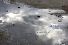 Reflexões no mar Fotografia de Stock