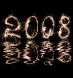 reflexión 2008 en agua Fotos de archivo