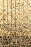 Reflexión abstracta de oro de la ventana Fotografía de archivo