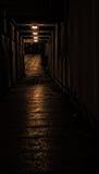 Reflexión anaranjada del túnel Foto de archivo