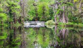 Reflexión de Charleston South Carolina Garden Bridge Imagen de archivo libre de regalías