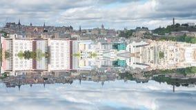 Reflexión de Edimburgo, Escocia almacen de video