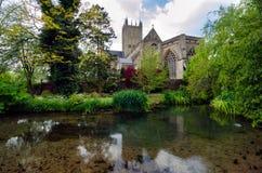Reflexión de la catedral de Wells Imagen de archivo