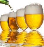 Reflexión de la cerveza Fotos de archivo