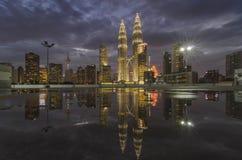 Reflexión de la ciudad Fotografía de archivo
