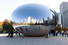 Reflexión de la haba de Chicago Fotos de archivo