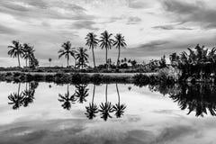 Reflexión de la orilla de Hoian Imágenes de archivo libres de regalías