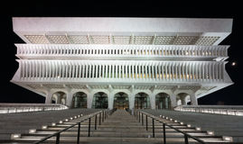 Reflexión de la plaza del estado del imperio en la noche foto de archivo