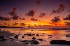 Reflexión de la puesta del sol Fotografía de archivo