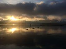 Reflexión de la salida del sol Fotos de archivo libres de regalías