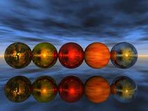 reflexión de las bolas ilustración del vector