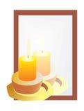Reflexión de las velas en el espejo Imagen de archivo libre de regalías