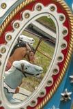 Reflexión de los caballos del carrusel Imagen de archivo libre de regalías