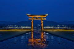 Reflexión de los toros en Japón imagen de archivo libre de regalías
