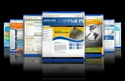 Reflexión de los Web site del Internet de la tecnología del Web Imágenes de archivo libres de regalías
