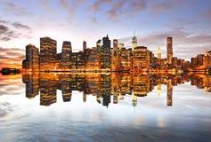 Reflexión de Manhattan fotos de archivo