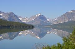Reflexión de muchos glaciares Fotografía de archivo