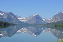 Reflexión de muchos glaciares Fotografía de archivo libre de regalías