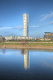 Reflexión de torneado del torso de Malmö Imagen de archivo libre de regalías