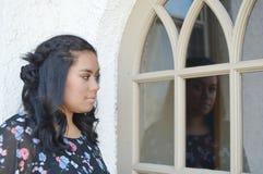 Reflexión de un adolescente Fotografía de archivo
