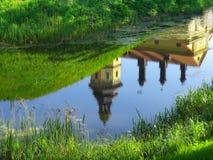 Reflexión de un castillo imagen de archivo