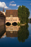 Reflexión del agua de Nuremberg Foto de archivo