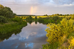 Reflexión del arco iris Fotos de archivo libres de regalías