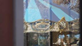 Reflexión del carrusel almacen de metraje de vídeo