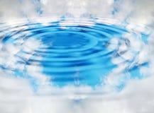 Reflexión del cielo azul stock de ilustración