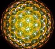 Reflexión del color de la prisma interior del triángulo del espejo Fotografía de archivo libre de regalías