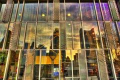 Reflexión del horizonte de Boston fotografía de archivo libre de regalías