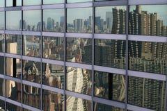 Reflexión del horizonte de NYC Imagenes de archivo