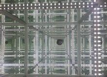Reflexión del infinito de la luz del LED Fotos de archivo libres de regalías