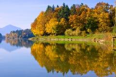 Reflexión del otoño Imagen de archivo libre de regalías