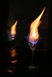 Reflexión del vidrio del fuego Foto de archivo libre de regalías