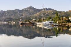 Reflexión en el mar de Selimiye Foto de archivo libre de regalías