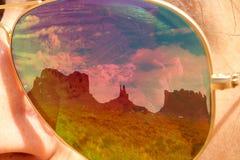 Reflexión en los sunglusses Foto de archivo libre de regalías